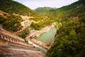 Hydro electric power station on ter river sau reservoir catalonia Stock Images