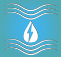 Hydro energy symbol illustration of paper cut out hydroelectric Royalty Free Stock Image