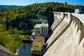 Hydroelectric power dam on the Vranov. Stock Photography