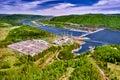 Hydroelectric power station in Krasnoyarsk