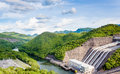 Hydroelectric powerplant in thailand green Stock Photography