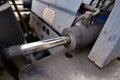 Hydrolic piston a hydraulic as part of fork lift Stock Image