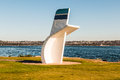 Hydroplane Legend, Bill Muncey, Memorial in San Diego Royalty Free Stock Photo