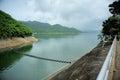 Hydropower in the rainy season Royalty Free Stock Image
