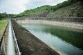 Hydropower in the rainy season Royalty Free Stock Photography