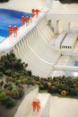 Hydropower Station model Royalty Free Stock Image