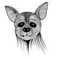 Hyena animal sketch symbol tattoo illustration wild dog t shirt vector icon design african travel design Royalty Free Stock Photos