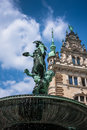 Hygieia brunnen hamburg statue fountain in the courtyard of ra rathaus germany Stock Photo