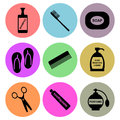 Hygiene icon designs a set of for graphic element use Stock Image