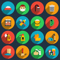 Hygiene and sanitation vector flat icons set clean icon housework icon illustration Royalty Free Stock Photography