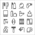 Hygienics. Set of icons. Various items. 16 icons.