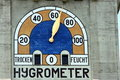 Hygrometer on a building facade Stock Image