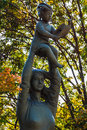Hymn to life Sculpture in Nagasaki Peace Park Royalty Free Stock Photo