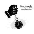 Hypnosis icon black Royalty Free Stock Photo