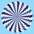 Hypnotic circles blue white Royalty Free Stock Image