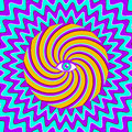 Hypnotic poster color retro with eye Royalty Free Stock Photos