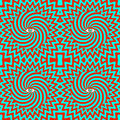 Hypnotic retro seamless pattern color Stock Photo
