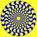 Hypnotic Of Rotation. Perpetual Rotation Illusion. Background With Bright Optical Illusions of Rotation. Optical