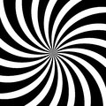 Hypnotic swirl lines abstract white black optical illusion vector spiral pattern background Royalty Free Stock Photo
