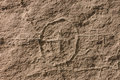 Hyroglyphics d'Anasazi Photos stock
