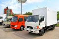 Hyundai hd ufa russia may commercial vans at the city street Royalty Free Stock Photography