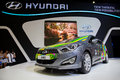 Hyundai nonthaburi march i car on display at the th bangkok international motor show on march in nonthaburi thailand Royalty Free Stock Image