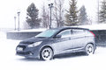 Hyundai solaris novyy urengoy russia march motor car at the city street during a heavy northern blizzard Stock Photography