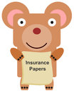 I'm insured a bear carrying insurance papers Stock Photos