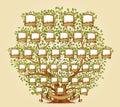 Family Tree template vector Royalty Free Stock Photo