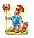 I came I saw the commander Rome won against Latin expression Royalty Free Stock Photo