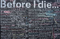 Before i die wishes on blackboard in Brighton