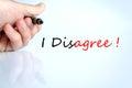 I Disagree Concept