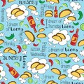I dream of Tacos Mexican fiesta days of the week party design.