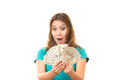 I get paid was glad to the money Royalty Free Stock Photography