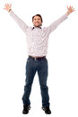 I am the happiest man it s time to celebrate yippee Stock Images