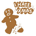 I hate christmas (vector) Royalty Free Stock Photo