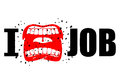 I hate job. shout symbol of hatred and antipathy. Open mouth. Fl