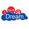 I have a dream cloud clouds in harmony peace and love Royalty Free Stock Photo