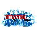 I have a dream stars martin luther king in harmony bold and sparkling Royalty Free Stock Photo
