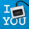 I like you with keyboard key vector eps illustration Stock Photo