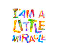 I`am a little miracle. Vector