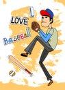 I Love baseball Royalty Free Stock Photo