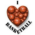 I love basketball Royalty Free Stock Photo