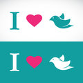 I love bird symbolic message Royalty Free Stock Photo