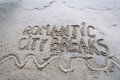 I Love City Breaks message written on sand Royalty Free Stock Photo