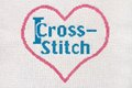 I love cross stitch Royalty Free Stock Images