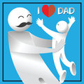 I love dad. happy father`s day card.