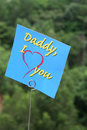I love daddy message Royalty Free Stock Photos