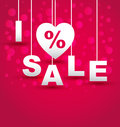I love discount sale background sample Royalty Free Stock Images
