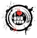 I love dub step music Stock Images